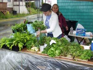 Preparing produce for sale