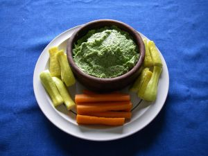 Broccoli pesto/dip made by Sitka resident Keith Nyitray