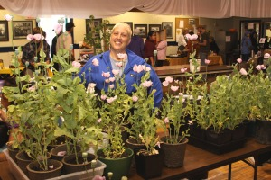 Cindy Westergaard sells plants at the July 18 Sitka Farmers Market