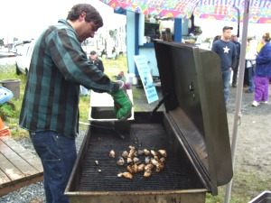 Grilling black cod collars from the Alaska Longline Fisherman's Association