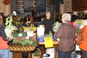 The Gimbal Botanicals booth at the July 18 first Sitka Farmers Market of the season.