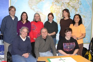 The 2009-10 Sitka Local Foods Network board of directors. Back row, from left, Doug Osborne, Linda Wilson, Lisa Sadleir-Hart, Natalie Sattler, Peggy Reeve (no longer on board) and Maybelle Filler. Front row, from left, Lynnda Strong, Kerry MacLane and Suzan Brawnlyn. Not pictured, Tom Crane, Johanna Willingham (added to board in May 2010).