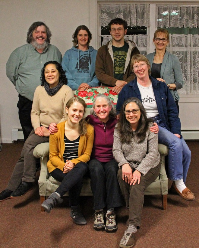 The 2015 Sitka Local Foods Network board of directors. Front row, from left, Alli Gabbert, Lisa Sadleir-Hart, and Jennifer Carter. Middle row, from left, Maybelle Filler and Michelle Putz. Back row, from left, Charles Bingham, Brandie Cheatham, Matthew Jackson, and Beth Kindig.