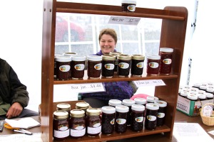 Local gardener Evening Star Grutter of Eve's Farm, shown here with some of her homemade jams during the Aug. 29, 2009, Sitka Farmers Market, will be the guest speaker at April's meeting of the Sitka Gardeners Club
