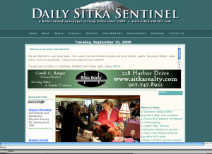 Screenshot of Tuesday's Daily Sitka Sentinel photo from the final 2009 Sitka Farmers Market