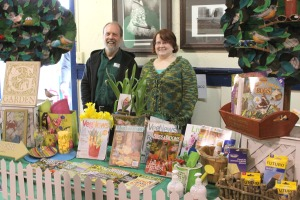 Mike and Robin run the White's Inc./Harry Race table during the 2009 Let's Grow Sitka garden show