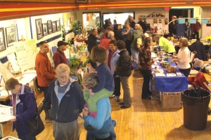 Sitka residents wander the booths during the 2009 Let's Grow Sitka garden show