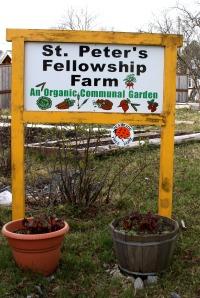 St. Peter's Fellowship Farm sign