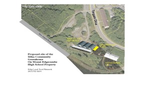 An artist's concept of one version of a proposed Sitka Community Greenhouse and Education Center