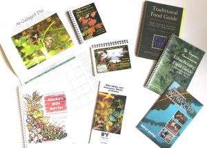A selection of traditional plant books that are in popular use in Southeast Alaska