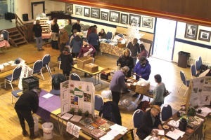 The view from above at closing time of the 2010 Let's Grow Sitka garden education event.
