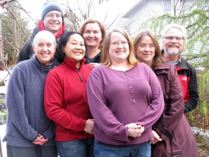 The Sitka Local Foods Network Board of Directors at its winter board retreat on Dec. 3, 2011. From left are Lisa Sadleir-Hart, Doug Osborne, Maybelle Filler, Cathy Lieser, Robin Grewe, Linda Wilson and Kerry MacLane. Not pictured is Tom Crane.