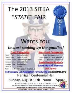 2013 Sitka State Fair flier