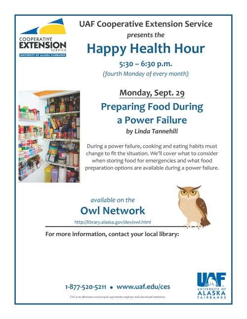 OWL Happy Health Hour Sept. 29