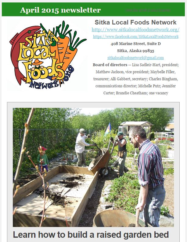 SLFN April 2015 newsletter screenshot
