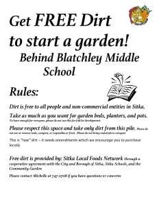 Get FREE Dirt to start a garden
