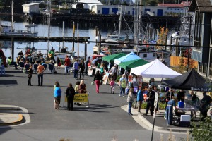 Some of the booths at the Sitka Farmers Market