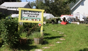 St. Peter's Fellowship Farm communal garden