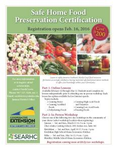 Food preservation certificate flier