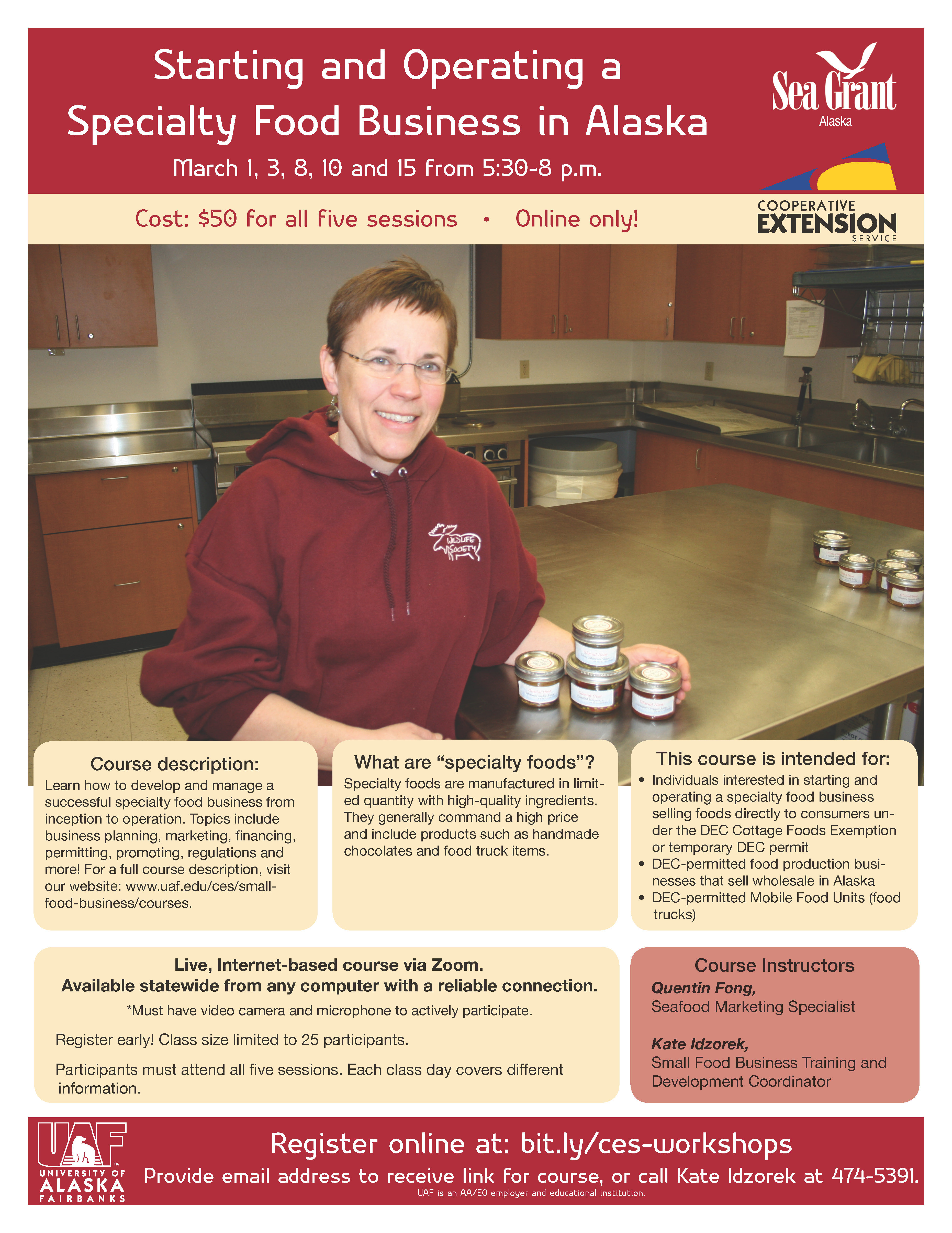 Specialty food business March 2016