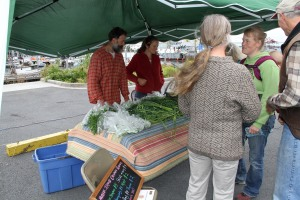 MiddleIslandOrganicProduceKalebAldredAndreaFragaWithCustomers