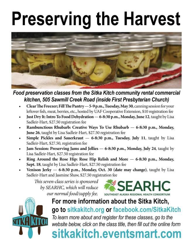 Sitka kitch to offer a preserving the harvest series of food sitka kitch to offer a preserving the harvest series of food preservation classes this summer forumfinder Images