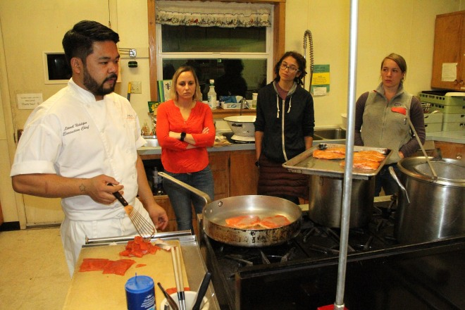 Scenes From The Cooking From Scratch Class On Fish N Veggies At The
