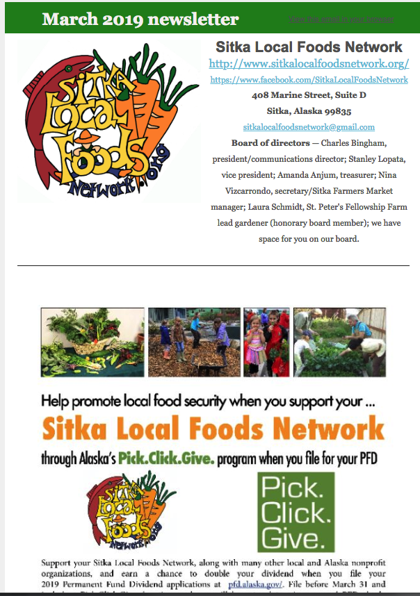 March 2019 – Sitka Local Foods Network